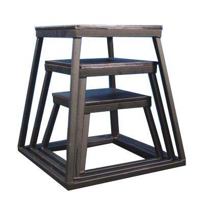Plyometric Platform Box Set- 12'', 18'', 24'' Black by Ader Sporting Goods