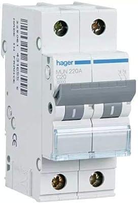 Hager MUN250A Interruptor Automático Magnetotérmico Serie MU, 2P ...