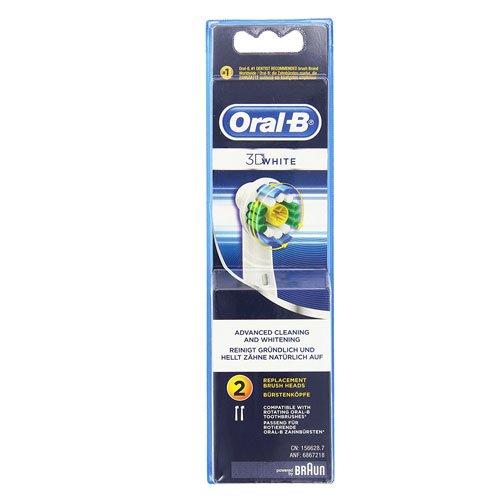 Oral-B - Pack de 2 cabezales para cepillos de dientes recargables - 3DWhite EB18, 4 piezas: Amazon.es: Salud y cuidado personal