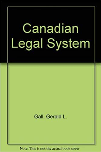 The Canadian legal system