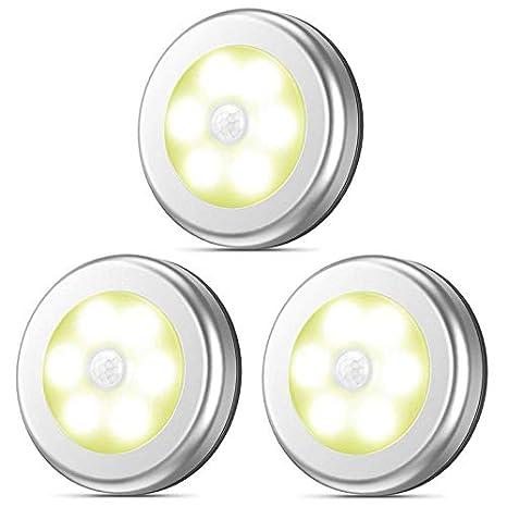 luz nocturna con sensor de movimiento, Auto Encendido/Apagado iluminación LED, funciona con