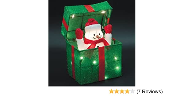 Animated Snowman Gift Box
