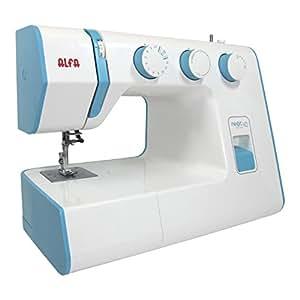 Alfa NEXT 40 - Máquina de coser con 25 puntadas, color azul cielo