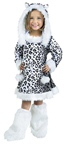 Fun World Costumes Baby Girl's Snow Leopard Toddler Costume, White/Black, X-Large(4-6)