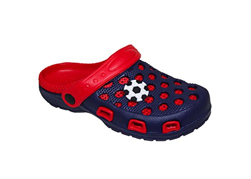 WP Spring/Summer Toddler Boys' Fashion Slingback Sandal Clogs With Cute Appliqué Detail For Beach, Pool or Everyday Wear (US Toddler 5, (Detail Slingback Sandals)