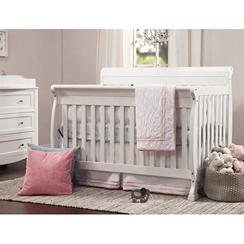 DaVinci Kalani 4-in-1 Convertible Crib in White   Greenguard Gold Certified (4 In 1 Convertible Crib With Toddler Rail)