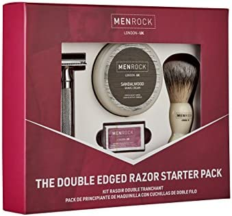 Men rock - Set de afeitado con cuchilla doble: Amazon.es: Belleza