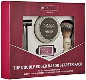 Men rock - Set de afeitado con cuchilla doble: Amazon.es: Belleza