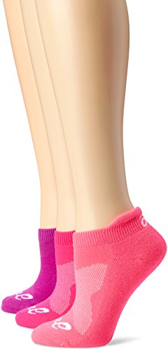 ASICS Women's Cushion Low Cut Sock (Pack of 3), Medium, Knockout Pink ()