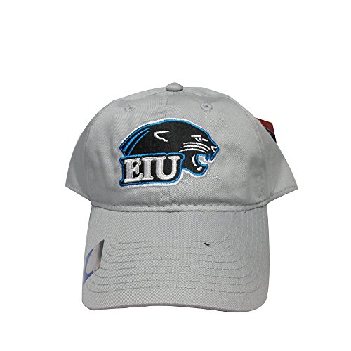 Rob'sTees Eastern Illinois University Panthers Silver College Team Strap Back Hat Cap