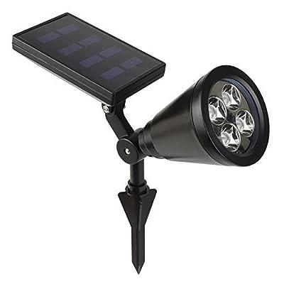 GreeSuit LED Solar Spotlight, 2-in-1 Wall Landscape Solar Spotlight Waterproof Outdoor Light, 180° Adjustable, Auto-On/ Off Sensor, Security Lighting, Path Lights for Tree, Backyard Lawn, Garden