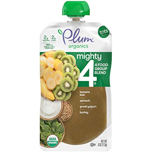 413gHMfTSRL - Plum Organics Mighty 4, Organic Toddler Food, Variety Pack, 4 Ounce (Pack Of 18)