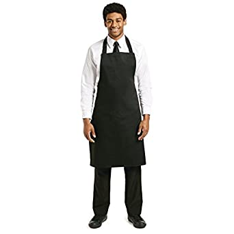 504cd504 Whites Chefs Clothing Whites Chefs Apparel Apron Polycotton Black Kitchen  Catering Cooking Craft