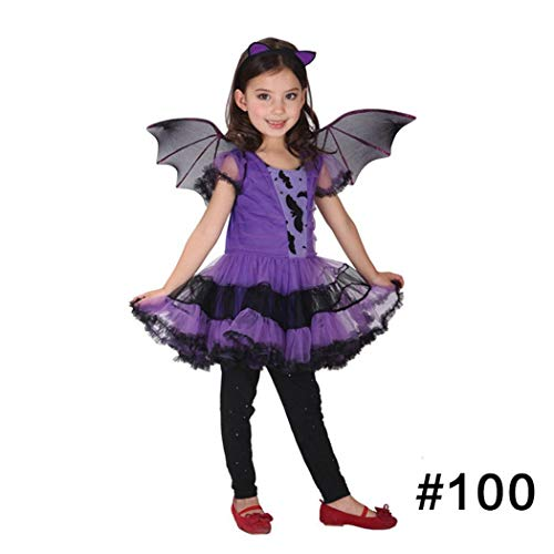 Yiiena 5 Styles Halloween Costume, Kids Halloween Costume Children Witch Cloak Cape Bat Cosplay Party Makeup Costumes]()