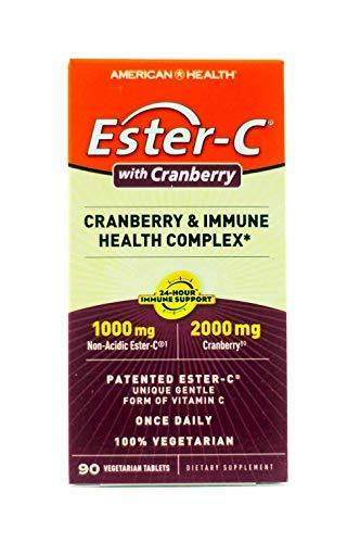 American Health Ester-C Cranberry, Cranberry & Immune Health Complex, 90 Tablets