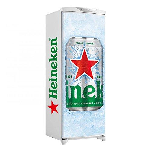 Adesivo geladeira envelopamento total lata heineken gelo 2 - até 1,50x0,60 m