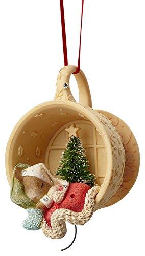 Enesco Heart of Christmas Mouse Sleeping in Cup Ornament 2.87 IN (Christmas Ornament Cup)