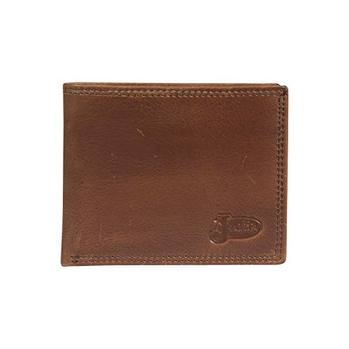 Justin Boot Company Classic Light Brown Bifold Leather Wallet