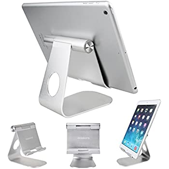 Tablet Stand Holder , Oenbopo iPad Stand 270° Rotatable Aluminum Desktop Tablet Holder Stand for iPad Pro iPad Mini iPad Air iPhone X/8/7/7Plus 6S Plus 5S 5C Samsung S6 S5 GPS