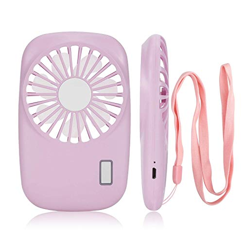Handheld Mini Pocket Quiet Fan Speed Adjustable USB Rechargeable Personal Portable Fan for Camping Hiking or Reading