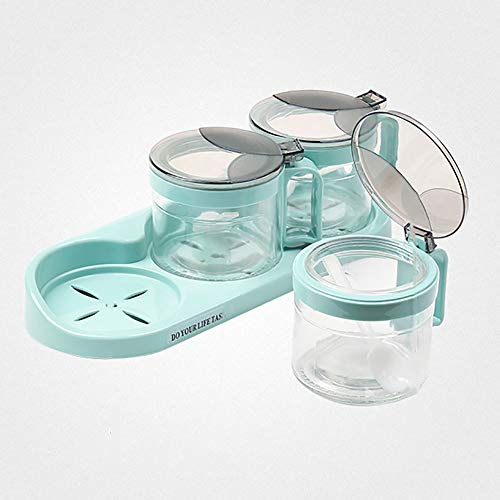 heaven2017 Spice Jar Condiment Storage Seasoning Bottle Container Condiment Pot Double Jar by heaven2017 (Image #6)