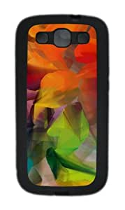 Colorful Petals TPU Case Cover for Samsung Galaxy S3 Case and Cover - Black
