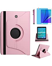 Case for Samsung Galaxy Tab A 9.7 inch (SM-P550 SM-T550 SM-T555) - 360 Degree Rotating Stand Case Smart Protective Cover,with Stylus Pen,Screen Film (Pink)