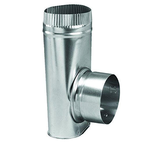 "Deflecto Dryer Offset Connector, 4"" Diameter, Silver (AMDOC/6)"
