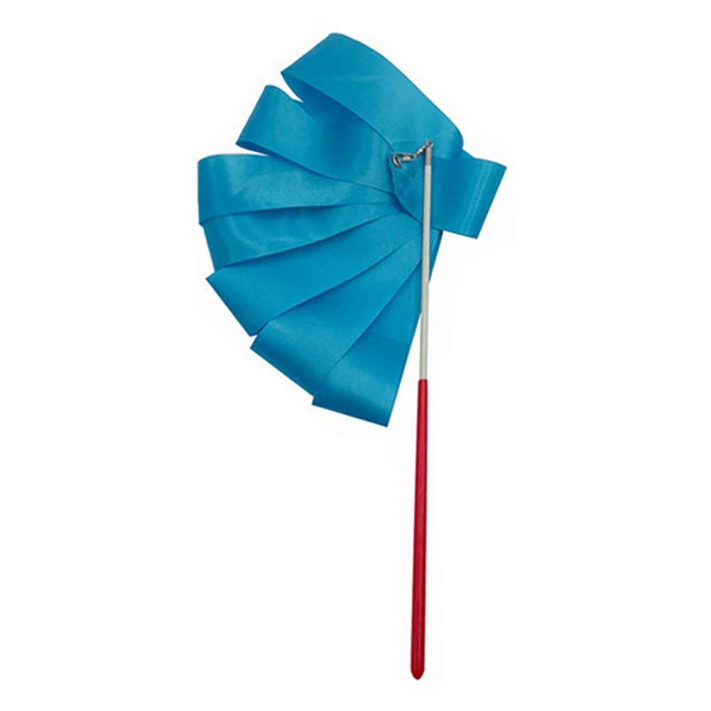 Baton-Wirbeln Tanzschlangen 4 m Bunte Gymnastikb/änder zum Tanzen Rhythmische Kunst Gymnastikband f/ür Kinder Leezo 2 m