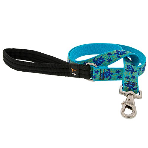 LupinePet Originals 1'' Turtle Reef 6-foot Padded Handle Leash for Medium and Larger Dogs by LupinePet