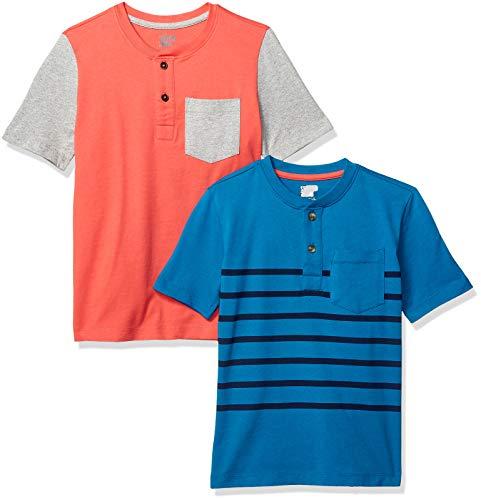Spotted Zebra M/ädchen 5er Pack Langarm T-Shirts