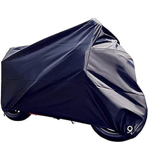 XL Vommpe Motorcycle Cover 210D Oxfod Cloth Waterproof Motorbike Cover Anti Dust Rain UV Indoor Outdoor Protection Storage Bag with anti-theft fabric holes