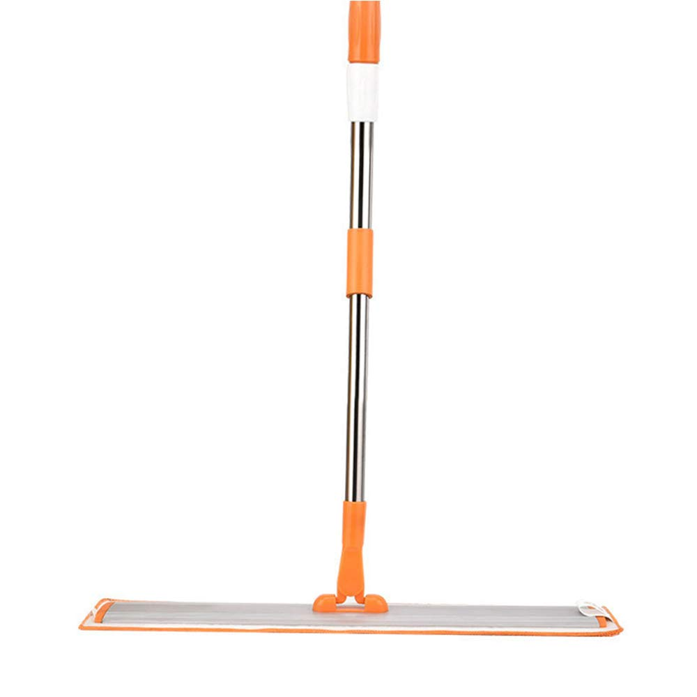 TQZY Professional Flat Floor mops, Upright 360 Degree Rotatable Mop Frame,Robust Stainless Handle,and Microfiber Cloth Pad for Home and Kitchen