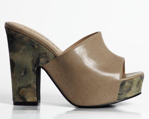 CAFèNOIR - Sandalias de vestir para mujer Beige