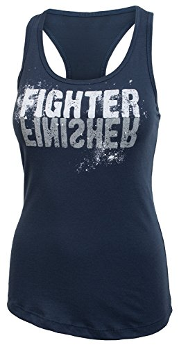 - Jumpbox Fitness Fighter Finisher - Women's Indigo Blue Racerback Workout Tank Top
