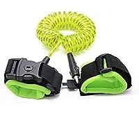 Correa de seguridad para niños - Modelo nuevo con candado y correa reflectiva para seguridad nocturna (Verde, 1.5m)