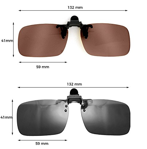03a15066c4 ElementsActive Polarized Clip On Flip Up Sunglasses Set Premium ...