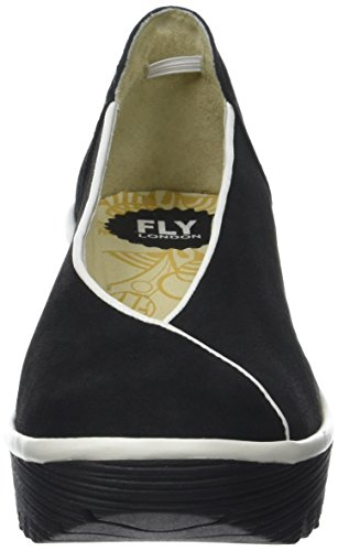 col Punta London Yuca839fly Chiusa Offwhite Black Nero Scarpe Donna Tacco Fly qxtXwgSq