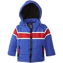 YMI Baby Boys' Jacket Bubble with Contrasting Horizontal Racing Stripe
