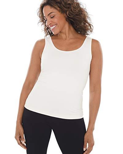(Chico's Women's Stretch Layering Tank Top Size 4/6 S (0) Cream)