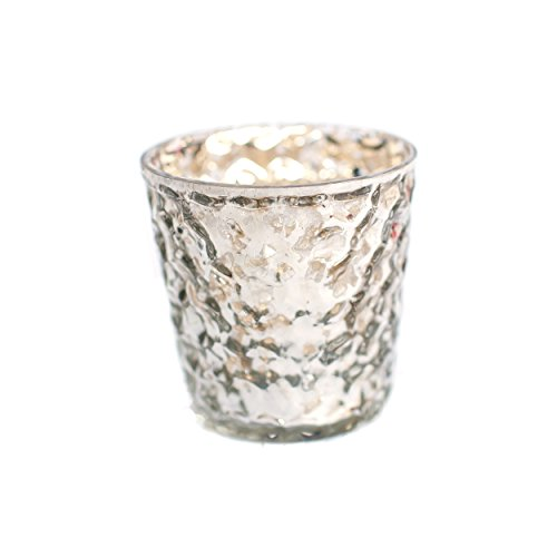 Insideretail Bubble Mercury Glass Silver Tea Light Holders w