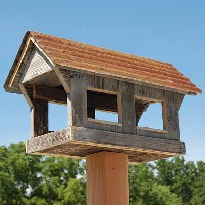 BestNest Bird In Hand Amish Made Covered Bridge Bird Feeder