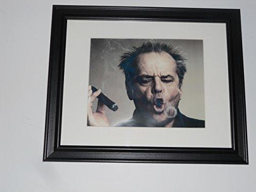 Cigar Head (Framed Jack Nicholson Head Shot Cigar Smoke Ring Poster Glass Frame 14