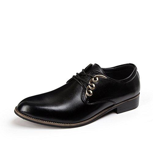 Zapatos ocasionales del negocio de la moda de verano/Zapatos de los hombres de Inglaterra Negro
