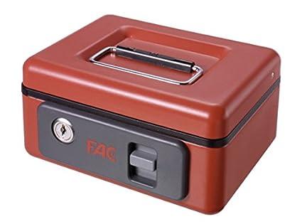 FAC 25002 - Caja de caudales con pulsador, número 1, color rojo