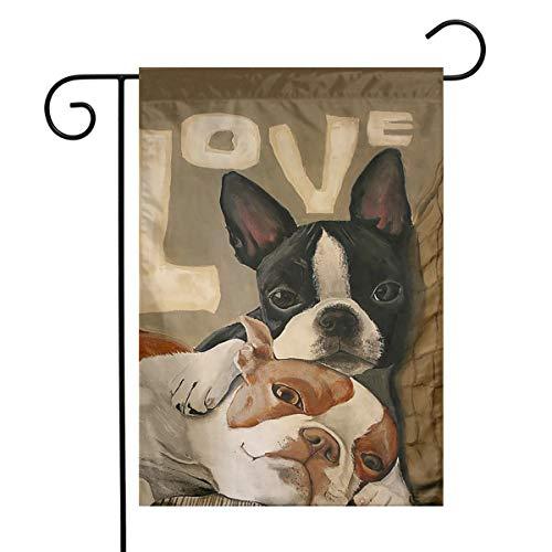 BRENDA SMALL Boston Terrier Garden Flag 12