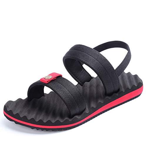Regolabili il libero Sandali tempo Slip Xiaoqin Men's per Comodi Sandali Sport Romani Sandali estivi Open Toe Sport adatti Red p0paw6