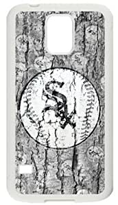 Retro Chicago White Sox Case Cover for Samsung Galaxy S5, Laser Technology Material