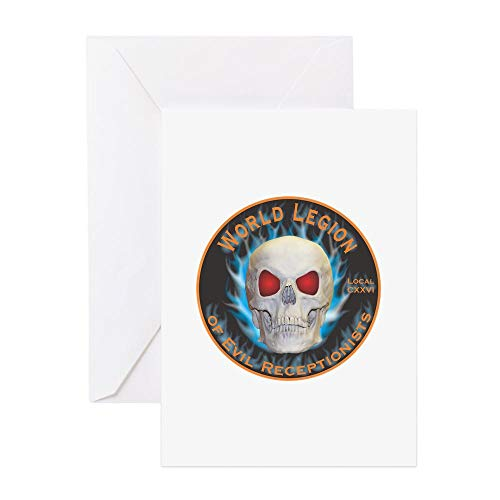 CafePress Legion Of Evil Receptionists Greeting Card, Note Card, Birthday Card, Blank Inside Glossy