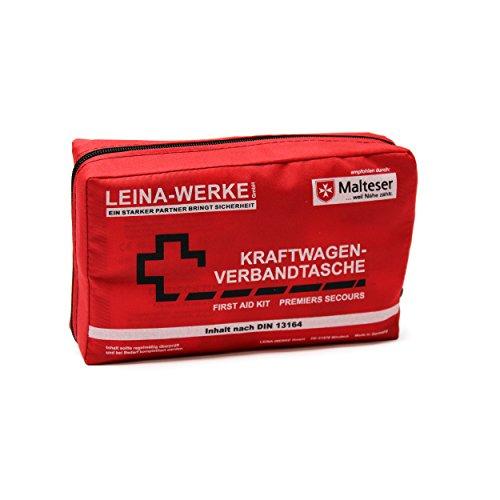 Leina-Werke 11008 KFZ-Verbandtasche Compact ohne Klett, Rot/Schwarz/Weiß